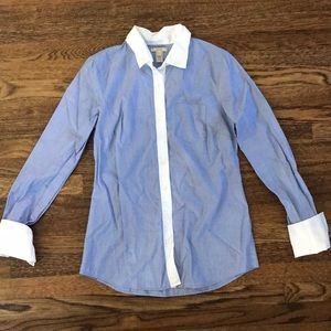 Jcrew French blue French cuffed collared shirt sz0